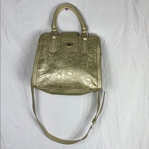 BEBE GOLD SHOULDER/CROSSBODY BAG